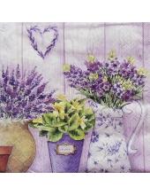 """Салфетка для декупажа """"Сиреневые цветы"""", 33х33 см, Германия"""