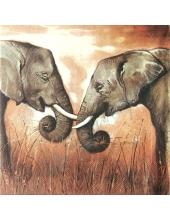 """Салфетка для декупажа """"Африканские слоны"""", 33х33 см, Германия"""
