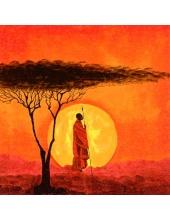"""Салфетка для декупажа """"Африканский закат"""", 33х33 см, Германия"""