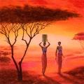 """Салфетка для декупажа """"Женщины Африки"""", 33х33 см, Германия"""
