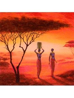 Салфетка для декупажа Женщины Африки, 33х33 см, Германия