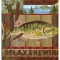 """Салфетка для декупажа """"Отдых и рыбалка"""", 33х33 см, Германия"""