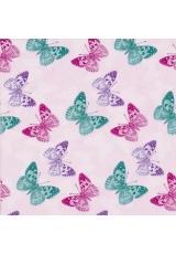 """Салфетка для декупажа """"Бабочки на розовом"""", 33х33 см, Германия"""