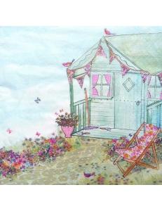 """Салфетка для декупажа """"Летний дом в саду"""", 33х33 см, Германия"""