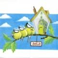 "Салфетка для декупажа ""Птички на ветке"", 33х33 см, Германия"