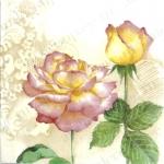 """Салфетка для декупажа """"Красивые розы, орнамент"""", 33х33 см, Германия"""