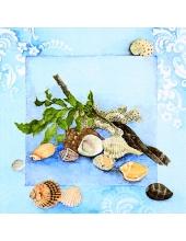 "Салфетка для декупажа ""Морские раковины"", 33х33 см, Германия"