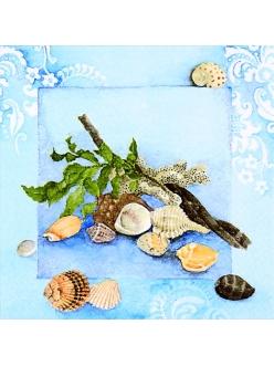 Салфетка для декупажа Морские раковины, 33х33 см, Германия