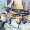 "Салфетка для декупажа ""Морской натюрморт"", 33х33 см, Германия"