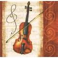 """Салфетка для декупажа """"Скрипка"""", 33х33 см, Германия"""