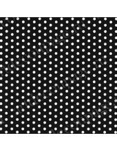 """Салфетка для декупажа """"Белый горох на черном фоне"""", 33х33 см, Германия"""