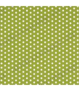 """Салфетка для декупажа """"Белый горох на зеленом фоне"""", 33х33 см, Германия"""