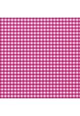 "Салфетка для декупажа ""Темно-розовая клетка"", 33х33 см, Германия"