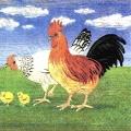 "Салфетка для декупажа ""Куриное семейство"", 33х33 см, Германия"