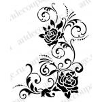 """Трафарет для росписи """"Завитки и розы"""", 21х29,7 см, Viva Decor (Германия)"""