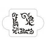 """Трафарет пластиковый EDMD133 """"Углы растительные"""", 10х10 см, Event Design"""
