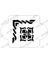 """Трафарет пластиковый EDMD051 """"Уголки, орнамент 4"""", 10х10 см, Event Desig"""