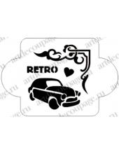 """Трафарет пластиковый EDMD060 """"Автомобиль, ретро"""", 10х10 см, Event Design"""