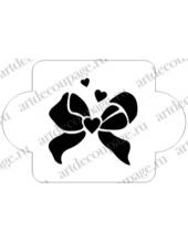 "Трафарет пластиковый EDMD071 ""Бантик, сердечки"", 10х10 см, Event Design"