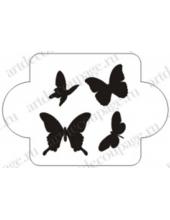 "Трафарет пластиковый EDMD082 ""Бабочки 1"", 10х10 см, Event Design"