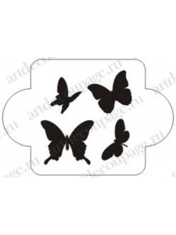 Трафарет пластиковый EDMD082 Бабочки 1, 10х10 см, Event Design