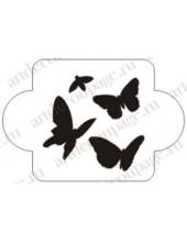 "Трафарет пластиковый EDMD083 ""Бабочки 2"", 10х10 см, Event Design"