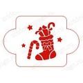 """Трафарет новогодний EDNG038 """"Рождественский носок"""", 10х10 см, Event Design"""