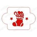 """Трафарет новогодний EDNG057 """"Рождественский носок с подарками"""", 10х10 см, Event Design"""
