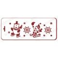 "Трафарет новогодний EDNGB046 ""Зимние забавы"", 10х25 см, Event Design"