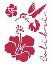 """Трафарет пластиковый для росписи KSD171 """"Колибри и цветок"""", 15х20 см, Stamperia (Италия)"""