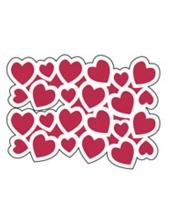 """Трафарет пластиковый для росписи KSD177 """"Сердца"""", 15х20 см, Stamperia (Италия)"""