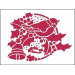 """Трафарет пластиковый для росписи KSD232 """"Рождественская гирлянда"""", 15х20 см, Stamperia (Италия)"""