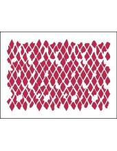 """Трафарет пластиковый для росписи KSD239 """"Рваные ромбы"""", 15х20 см, Stamperia (Италия)"""
