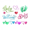 "Трафарет пластиковый для росписи KSD295 ""Baby Welcome"", 15х20 см, Stamperia (Италия)"