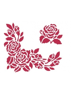 Трафарет пластиковый для росписи Розы, 15х20 см, Stamperia KSD81