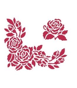 """Трафарет пластиковый для росписи KSD081 """"Розы"""", 15х20 см, Stamperia (Италия)"""