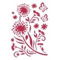 "Трафарет пластиковый KSG138 ""Цветы и бабочки, 21х29,7 см, Stamperia"