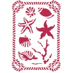 "Трафарет пластиковый KSG183 ""Морские обитатели"", 21х29,7 см, Stamperia (Италия)"