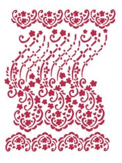 Трафарет для росписи Цветочное кружево, орнамент, 21х29,7 см, Stamperia KSG213