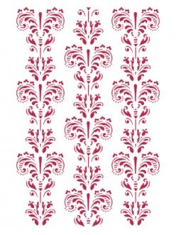 Трафарет пластиковый Вензеля, орнамент, 21х29,7 см, Stamperia KSG226