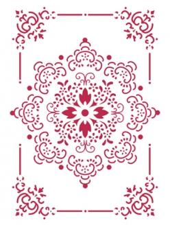 Трафарет пластиковый Кружевная салфетка в рамочке, 21х29,7 см, Stamperia