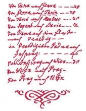 "Трафарет пластиковый KSG260 ""Текст, орнамент"", 21х29,7 см, Stamperia"