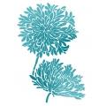 "Трафарет пластиковый KSG348 ""Хризантемы"", 21х29,7 см, Stamperia (Италия)"