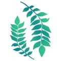 """Трафарет пластиковый KSG349 """"Ветки с листьями"""", 21х29,7 см, Stamperia (Италия)"""