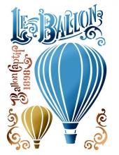 "Трафарет пластиковый KSG372 ""Воздушный шар"", 21х29,7 см, Stamperia (Италия)"
