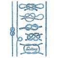 """Трафарет пластиковый KSG377 """"Морские узлы"""", 21х29,7 см, Stamperia (Италия)"""