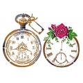 "Трафарет пластиковый KSG378 ""Старинные часы"", 21х29,7 см, Stamperia (Италия)"