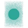 """Трафарет пластиковый KSG411 """"Оптический эффект"""", 21х29,7 см, Stamperia (Италия)"""