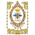 "Трафарет пластиковый KSG413 ""Королева пчел"", 21х29,7 см, Stamperia (Италия)"