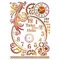 "Трафарет пластиковый KSG417 ""Take your time"", 21х29,7 см, Stamperia (Италия)"
